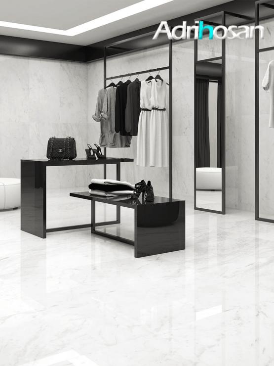Pavimento porcel nico rectificado aura brillo 60 x 120 cm - Pavimentos de marmol ...