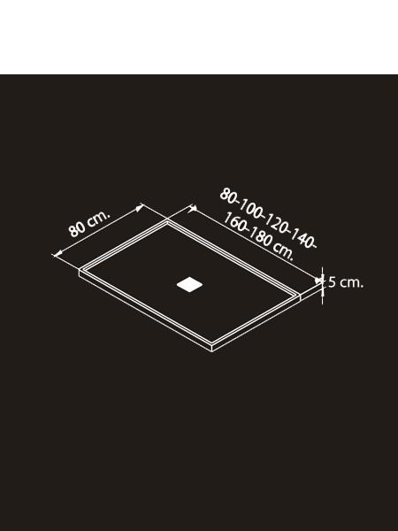 Plato de ducha solid surface enmarcado blanco - Plato ducha corian ...