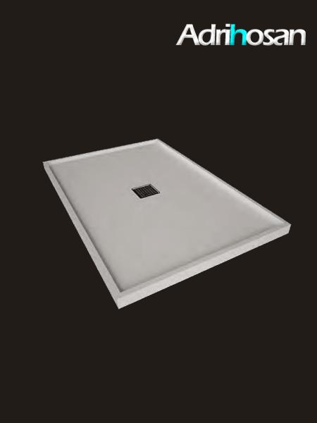 Plato de ducha Solid Surface enmarcado blanco Antideslizante C3