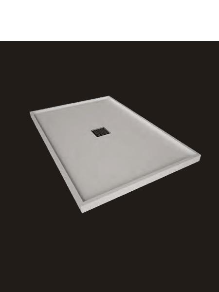 Plato de ducha Solid Surface enmarcado blanco Antideslizante C1
