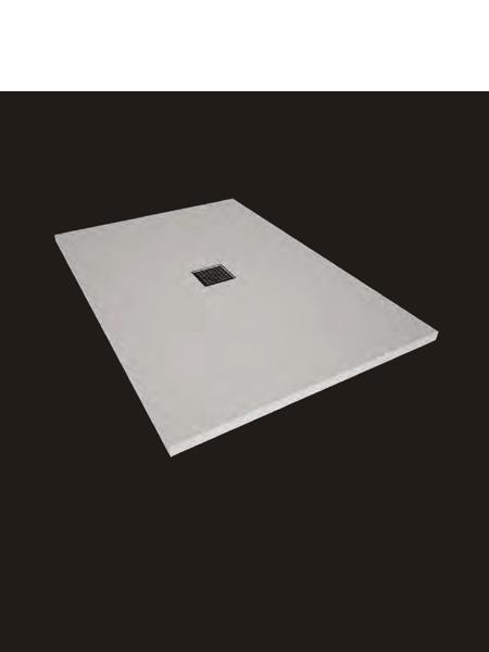 Plato de ducha Solid Surface oxi blanco Antideslizante C1