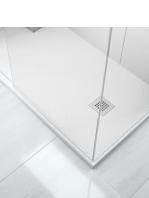 Plato de ducha Fiora extraplano blanco textura pizarra