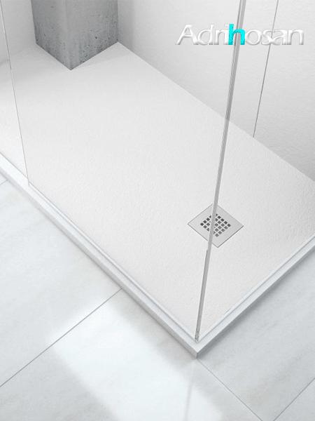 Plato de ducha Adrihosan extraplano blanco textura pizarra (entrega 72 horas)