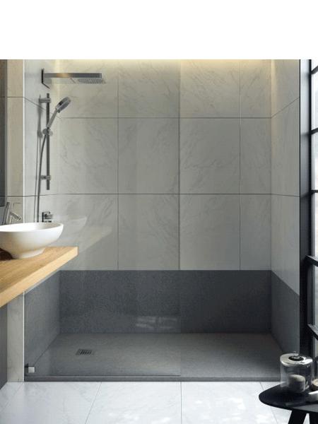 Plato de ducha fiora extraplano colores textura pizarra - Suelo ducha pizarra ...