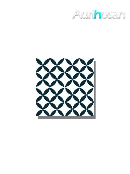 Baldosa hidráulica Arch 20x20x1.5 cm de cemento pigmentado.