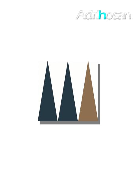 Baldosa hidráulica Benaco 20x20x1.5 cm de cemento pigmentado.