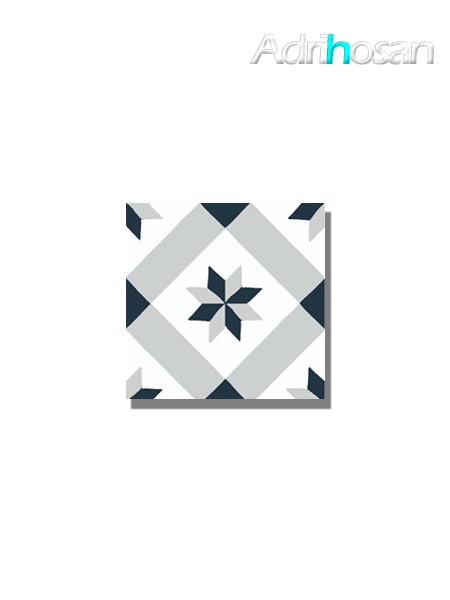 Baldosa hidráulica Calvet 20x20x1.5 cm de cemento pigmentado.