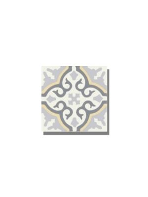 Baldosa hidráulica Classic beige 20x20x1.5 cm de cemento pigmentado.Labaldosa hidráulicadecorativa se puede utilizar tanto en interior como en exterior.