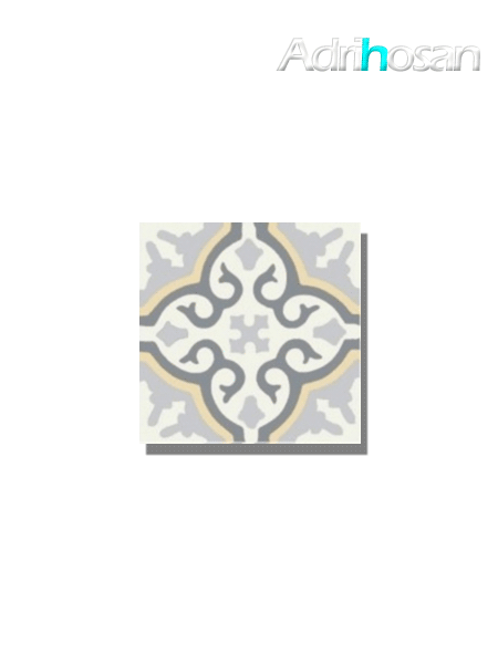 Baldosa hidráulica Classic beige 20x20x1.5 cm de cemento pigmentado.