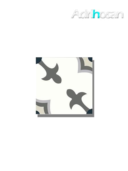 Baldosa hidráulica Florentina 20x20x1.5 cm de cemento pigmentado.