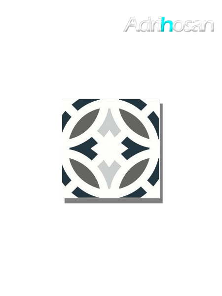 Baldosa hidráulica Gibert 20x20x1.5 cm de cemento pigmentado.