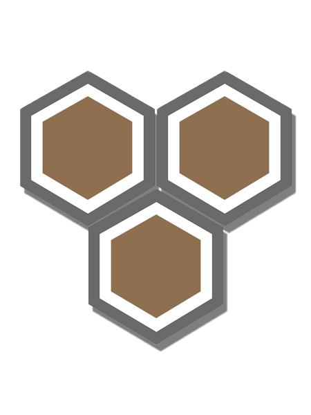 Baldosa hidráulica Hexagonal Grass 23x20x1.5 cm de cemento pigmentado.Labaldosa hidráulicadecorativa se puede utilizar tanto en interior como en exterior.