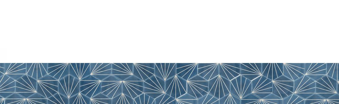 Baldosa hidráulica Hexagonal Ray 23x20x1.5 cm de cemento pigmentado.La baldosa hidráulica decorativa se puede utilizar tanto en interior como en exterior.