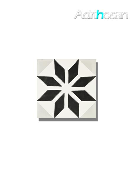 Baldosa hidráulica Macaya 20x20x1.5 cm de cemento pigmentado.
