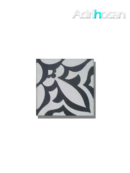 Baldosa hidráulica Mikonos 20x20x1.5 cm de cemento pigmentado.