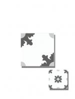 Baldosa hidráulica Morera 20x20x1.5 cm de cemento pigmentado.Labaldosa hidráulicadecorativa se puede utilizar tanto en interior como en exterior.
