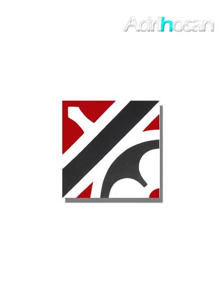 Baldosa hidráulica Nassau 20x20x1.5 cm de cemento pigmentado.