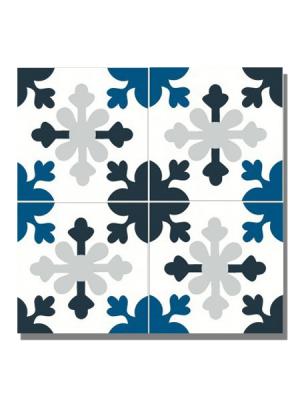 Baldosa hidráulica Ordal 20x20x1.5 cm de cemento pigmentado.Labaldosa hidráulicadecorativa se puede utilizar tanto en interior como en exterior.