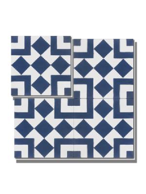Baldosa hidráulica Osiris 20x20x1.5 cm de cemento pigmentado.Labaldosa hidráulicadecorativa se puede utilizar tanto en interior como en exterior.