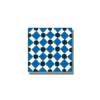 Baldosa hidráulica Palau azul 20x20x1.5 cm de cemento pigmentado.Labaldosa hidráulicadecorativa se puede utilizar tanto en interior como en exterior.