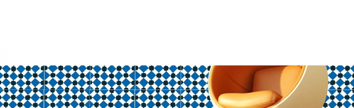 Baldosa hidráulica Palau azul 20x20x1.5 cm de cemento pigmentado.La baldosa hidráulica decorativa se puede utilizar tanto en interior como en exterior.