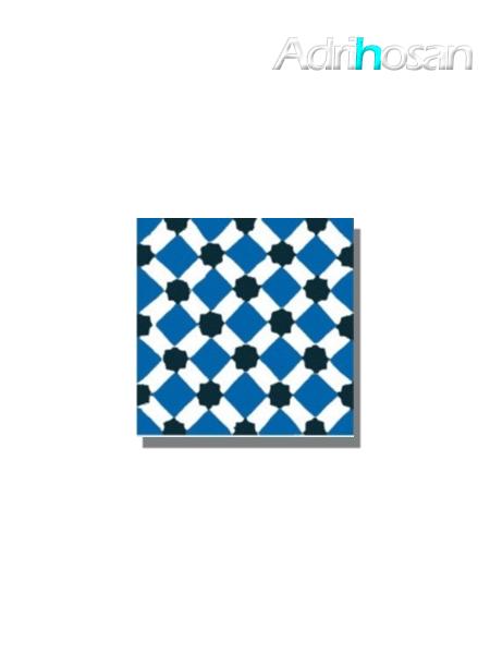 Baldosa hidráulica Palau 20x20x1.5 cm de cemento pigmentado.