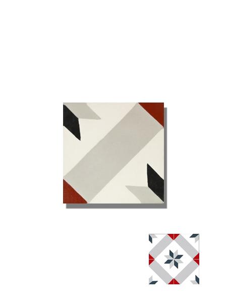 Baldosa hidráulica Palau gris 20x20x1.5 cm de cemento pigmentado.Labaldosa hidráulicadecorativa se puede utilizar tanto en interior como en exterior.