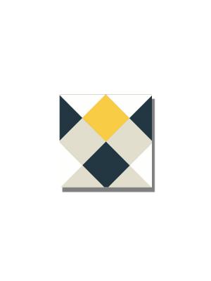 Baldosa hidráulica Rotjen 20x20x1.5 cm de cemento pigmentado.Labaldosa hidráulicadecorativa se puede utilizar tanto en interior como en exterior.