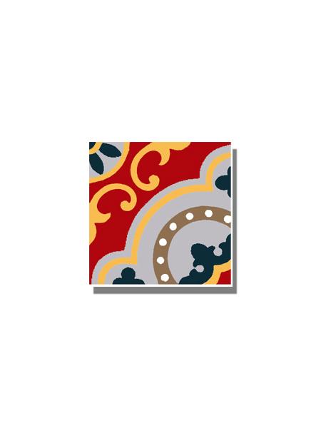 Baldosa hidráulica Tasel 20x20x1.5 cm de cemento pigmentado.Labaldosa hidráulicadecorativa se puede utilizar tanto en interior como en exterior.