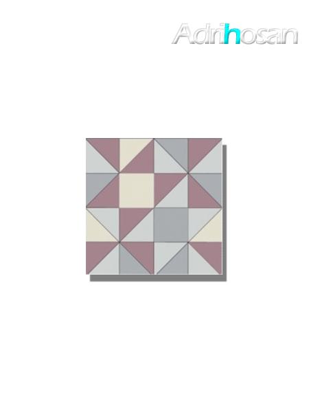 Baldosa hidráulica Valvanera 20x20x1.5 cm de cemento pigmentado.