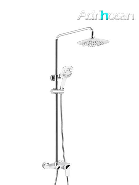Columna de ducha monomando Tanis cromo-blanca