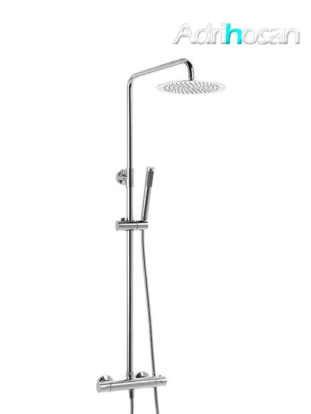 Columna de ducha termostática cromada Guiza