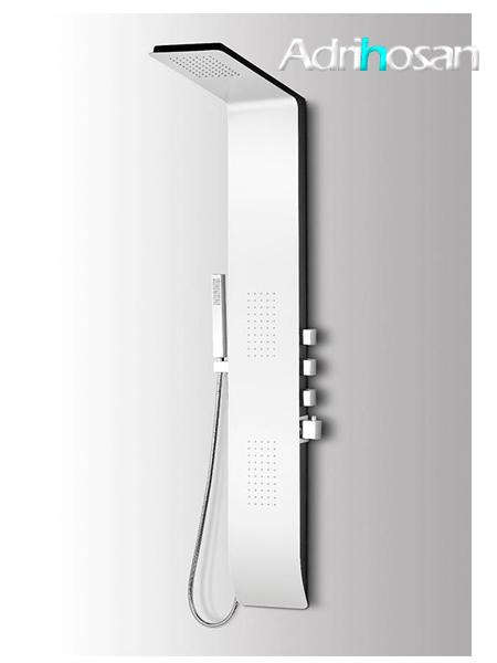 Columna de ducha termostática Menia blanca