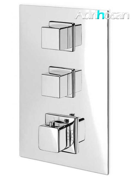 Distribuidor empotrado termostático de ducha 2 vías independientes
