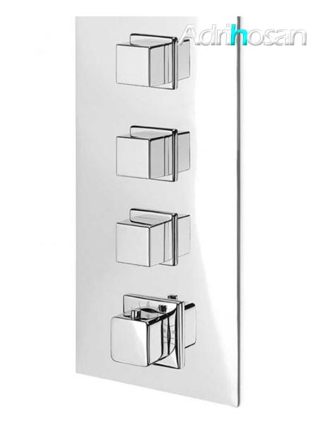 Distribuidor empotrado termostático de ducha 3 vías independientes