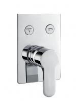Mezclador empotrado Monomando con desviador 2 salidas Karnak. Seleccione con un click la salida deseada, rociador superior o mango de ducha.