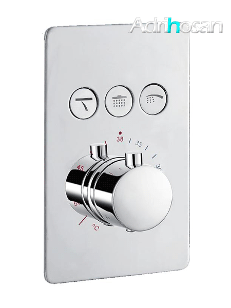 Mezclador empotrado termostático con desviador 3 salidas Nairobi