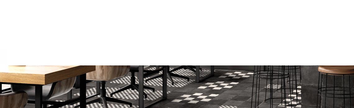 Pavimento porcelánico Chess matt 20 x 20 cm. El sabor y la belleza de los suelos desgastados por el paso del tiempo se reflejan en Chess.