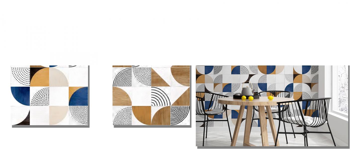 Pavimento porcelánico Lumo Colors 15 x 15 cm. Un pavimento o revestimiento estilo Pop que incluye en la caja 35 modelos diferentes.