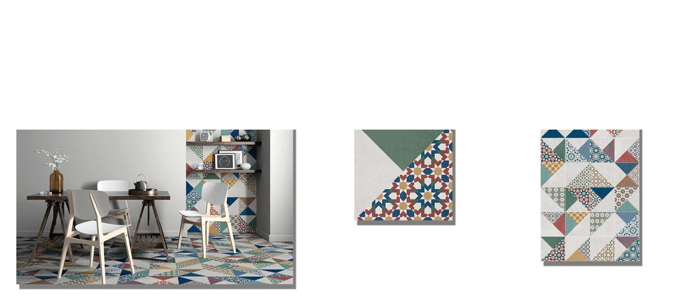 Pavimento porcelánico Medina 20 x 20 cm. Un azulejo de pequeño formato para suelos y paredes con un aire al antiguo azulejo andaluz y mozárabe.