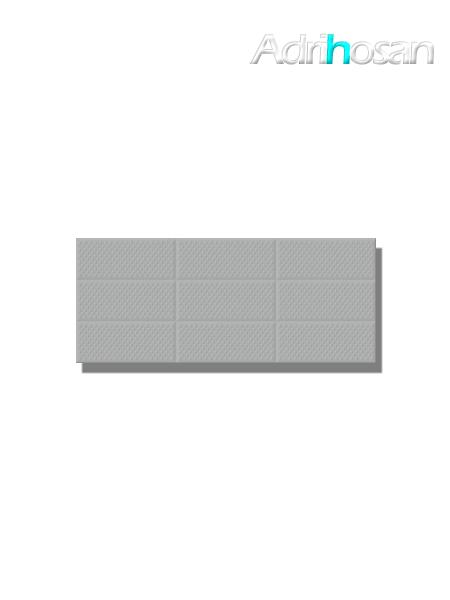 Revestimiento Amelie Grey decor brillo 25x60 cm (1.05 m2/cj)