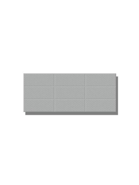 Revestimiento Amelie Grey Decor 25x60 cm brillo 25 x 60 cm. Una serie de azulejos para paredes de colores neutros para cualquier diseño de tu cocina o baño.