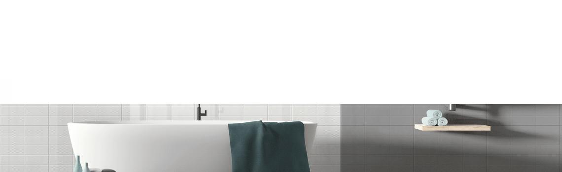 Revestimiento Amelie White Decor 25x60 cm brillo 25 x 60 cm. Una serie de azulejos para paredes de colores neutros para cualquier diseño de tu cocina o baño.