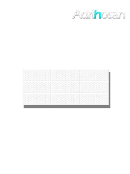 Revestimiento Amelie White decor brillo 25x60 cm (1.05 m2/cj)