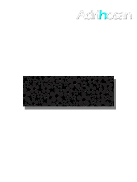 Revestimiento decorado daisy black brillo 20x60 cm (1.05 m2/cj)