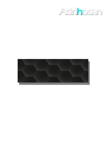 Revestimiento decorado geom black brillo 20x60 cm (1.05 m2/cj)