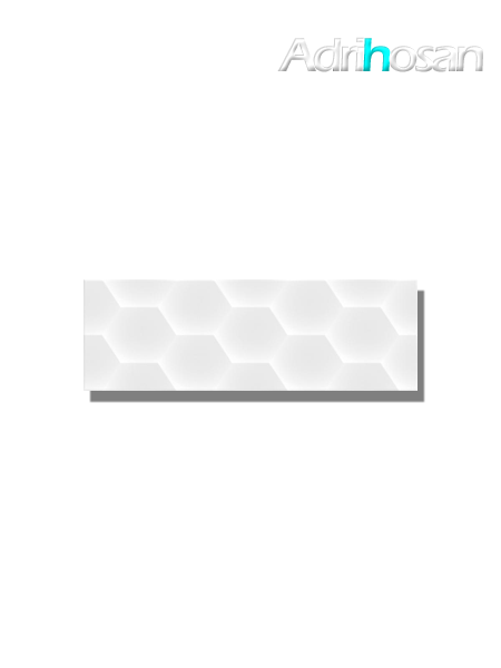 Revestimiento decorado geom white brillo 20x60 cm (1.05 m2/cj)