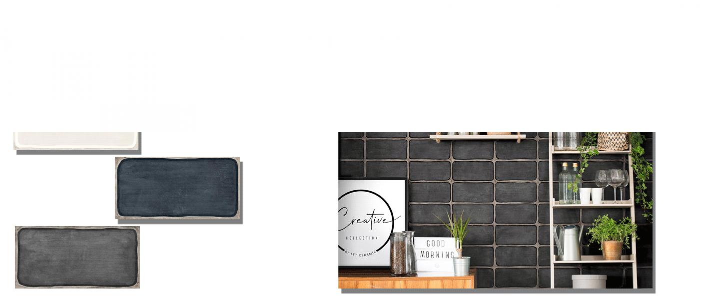 Revestimiento pasta blanca Frame matt 12.5x25 cm. Un azulejo ideal para decoraciones en baños, cocinas, comedores en tres acabados mate.