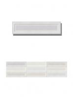 Revestimiento pasta blanca Osaka White brillo 7.5x30 cm. Un azulejo tipo metro con relieve que crea volúmenes atractivos en el diseño en colores diferentes.