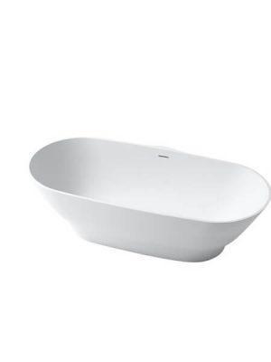Bañera exenta Solid Surface Moraine 178x83 cm.Bañera de libre instalación con rebosadero interno. Una bañera de líneas curvas con una frágil curvatura.